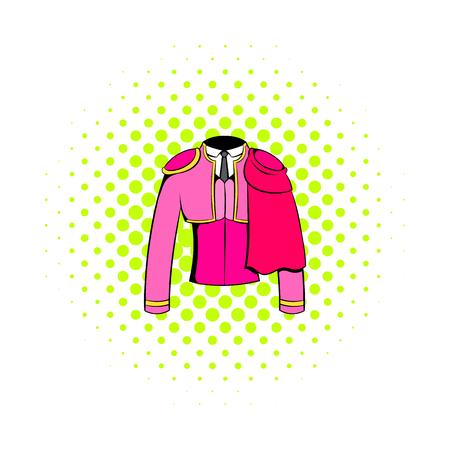 torero: Spanish torero jacket icon in comics style on a white background Illustration