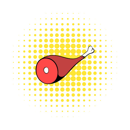 iberian: Hamon icon in comics style on a white background Illustration