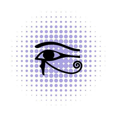 ojo de horus: Ojo de Horus en icono de estilo c�mic sobre un fondo blanco