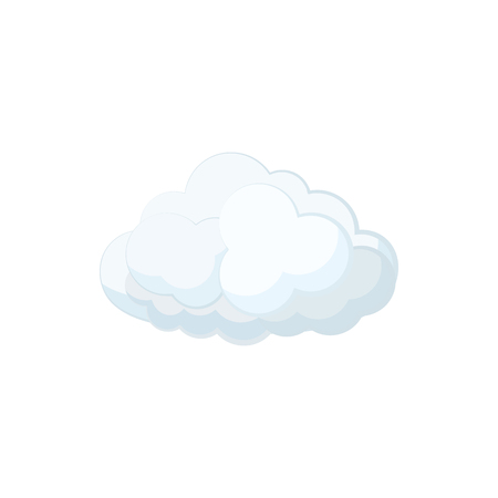 cartoon cloud: Cloud icon in cartoon style on a white background