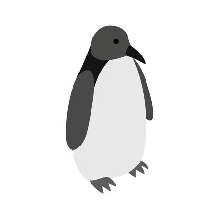 Penguin icône dans le style 3d isométrique sur un fond blanc