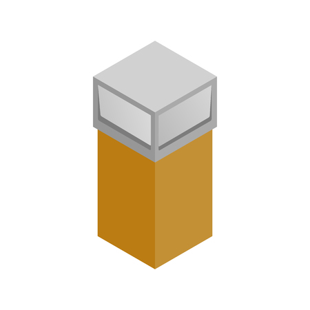 segregate: Recycle bin icon in isometric 3d style on a white background Illustration