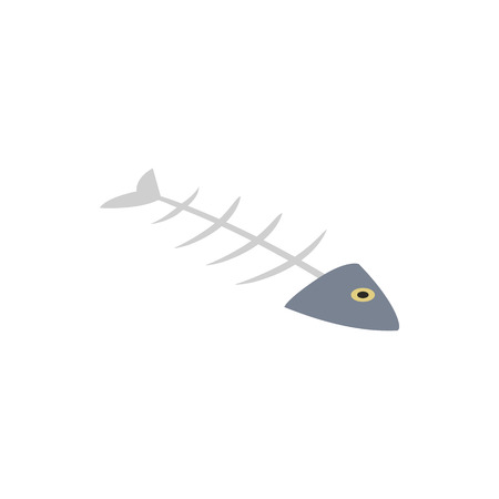 fishbone: Fishbone icon in isometric 3d style on a white background