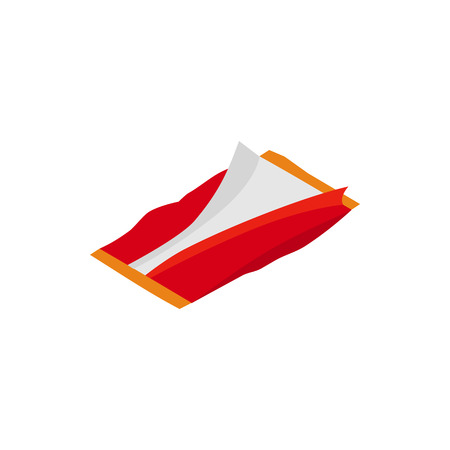 used: Used plastic packaging icon in isometric 3d style on a white background Illustration