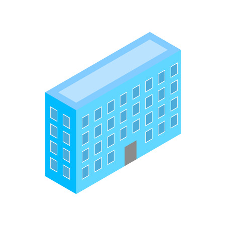 metropolis image: Building icon in isometric 3d style on a white background