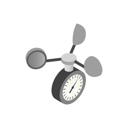 Anemometer Symbol in der isometrischen 3D-Stil auf einem weißen Hintergrund