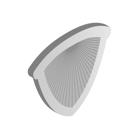 honour guard: Metal shield icon in isometric 3d style on a white background