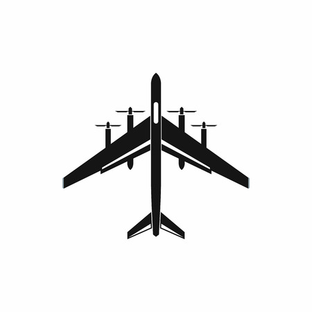 avion de chasse: Fighter plane icon in simple style on a white background Illustration