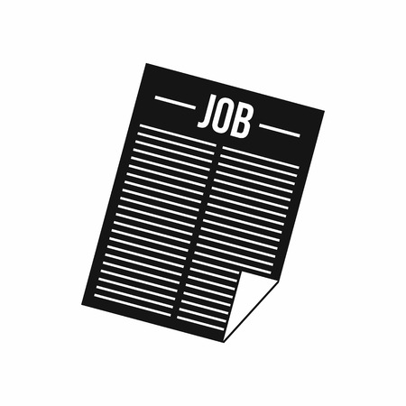 job vacancy: Job vacancy icon in simple style isolated on white background