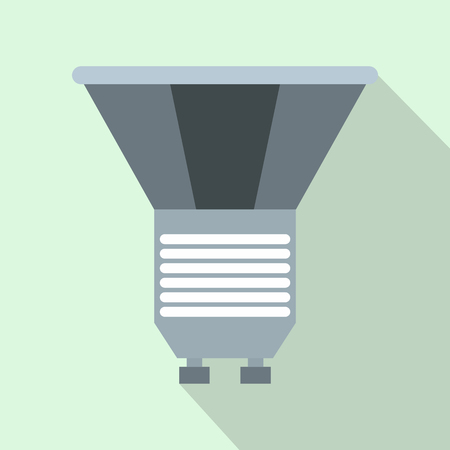 light emitting diode: Luminodiode icon in flat style on a light blue background Illustration