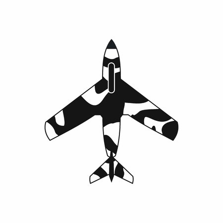 aeronautics: Air force plane icon in simple style on a white background