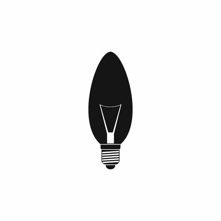 oval shape: Oval shape light bulb icon in simple style on a white background