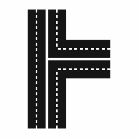 crossroads: Crossroads icon in simple style on a white background