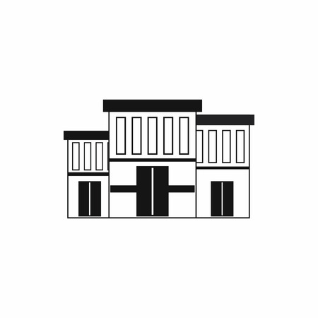 prison house: Police building icon in simple style on a white background