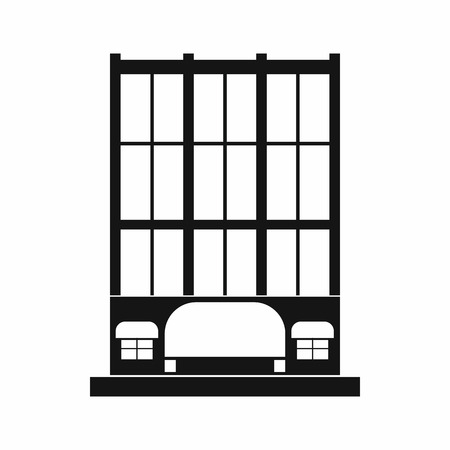 simple store: Shopping center store building icon in simple style on a white background Illustration