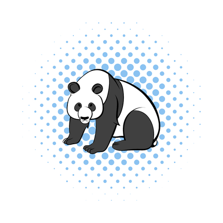 endanger: Panda icon in comics style on a white background