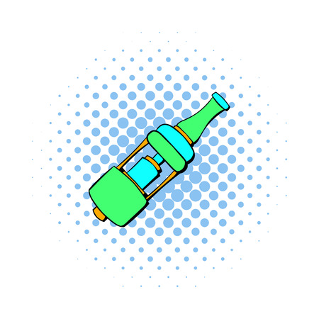 mouthpiece: Electronic cigarette mouthpiece icon in comics style isolated on white background