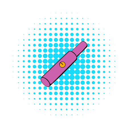 cartridge: Electronic cigarette cartridge icon in comics style isolated on white background