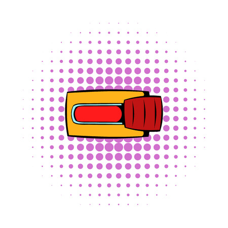 toggle switch: Toggle switch in No position icon in comics style on a white background
