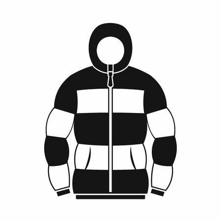 zipper hooded sweatshirt: Hoodie icon in simple style on a white background