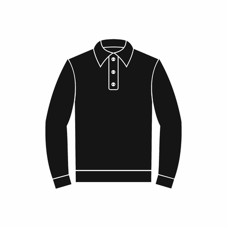 long sleeve shirt: Long sleeve polo shirt icon in simple style on a white background