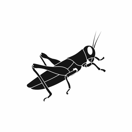 hopper: Grasshoppers icon in simple style on a white background