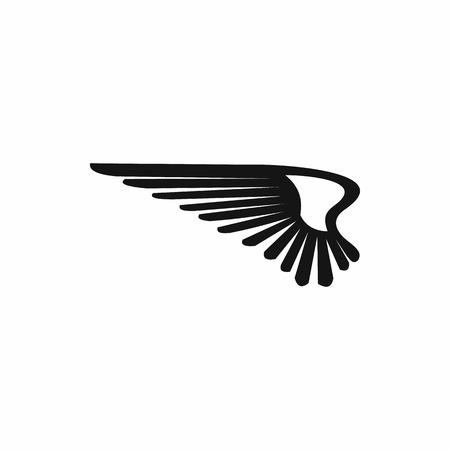 icono de ala de forma sencilla sobre un fondo blanco