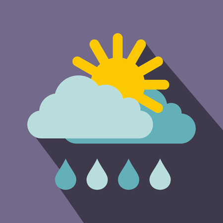 hailstorm: Weather icon in flat style with long shadow