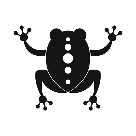 croaking: Frog icon in black simple style isolated on white background