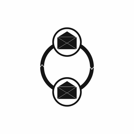 synchronization: Synchronization messages icon in simple style on a white background