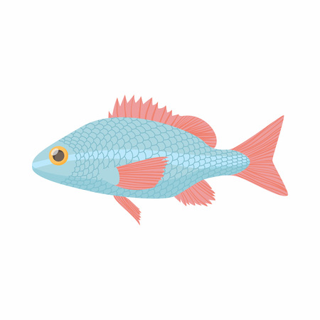 minnow: Fish carp icon in cartoon style isolated on white background. Sea and ocean symbol Illustration