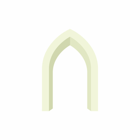portal: Gothic portal icon in cartoon style on a white background