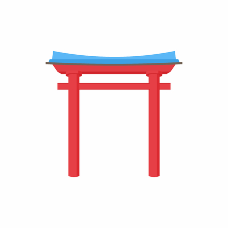 shouldered: Pagoda arch icon in cartoon style on a white background