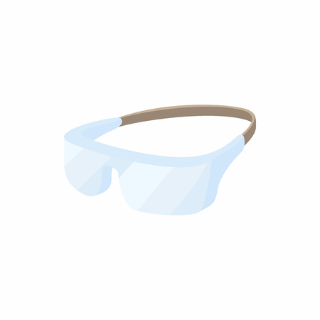 personal protective equipment: Safety glasses icon in cartoon style on a white background
