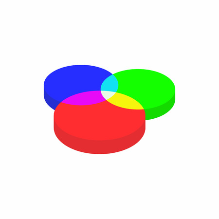 color range: Color range spectrum circle round palette icon in cartoon style on a white background