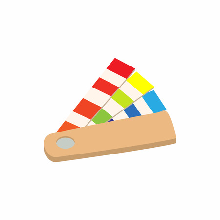 color guide: Color guide icon in cartoon style on a white background