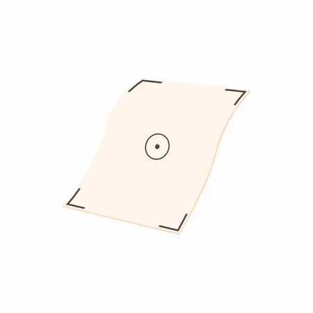 multifunction printer: Printer marks on paper icon in cartoon style on a white background
