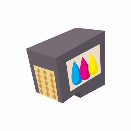 Cartridges for printer icon in cartoon style on a white background Vektoros illusztráció