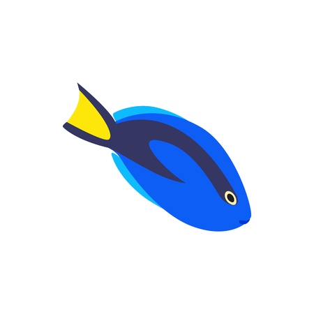surgeon fish: Surgeon fish icon in isometric 3d style isolated on white background. Sea and ocean symbol