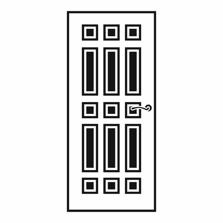 front door: Front door icon in simple style on a white background Illustration