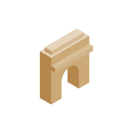 triumphal: Triumphal arch icon in isometric 3d style on a white background
