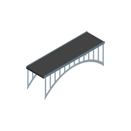 span: Span bridge icon in isometric 3d style on a white background Illustration
