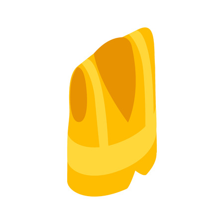 Yellow vest icon in isometric 3d style on a white background