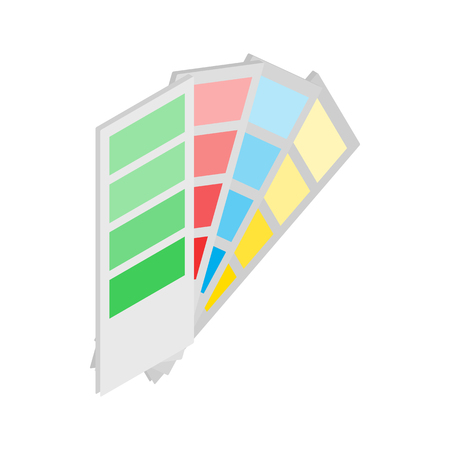 color guide: Color guide icon in isometric 3d style on a white background