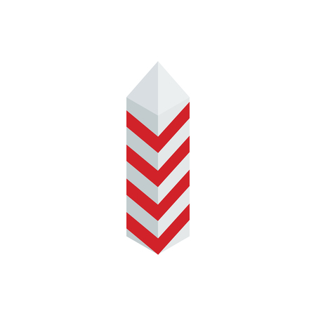 restrictive: Restrictive column icon in isometric 3d style isolated on white background. War and evacuation symbol