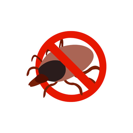 sanitation: Warning sign with tick icon in isometric 3d style isolated on white background. Sanitation and prohibition symbol