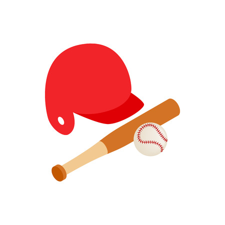 pitching: Baseball icon in isometric 3d style isolated on white background. Sport symbol
