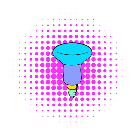 led bulb: LED bulb icon in comics style on a white background Illustration