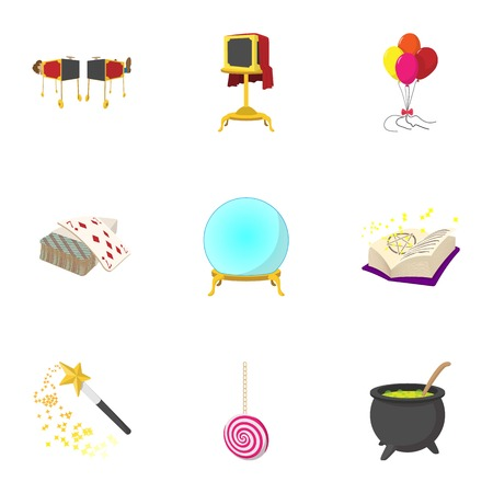 witchery: Witchery icons set, cartoon style