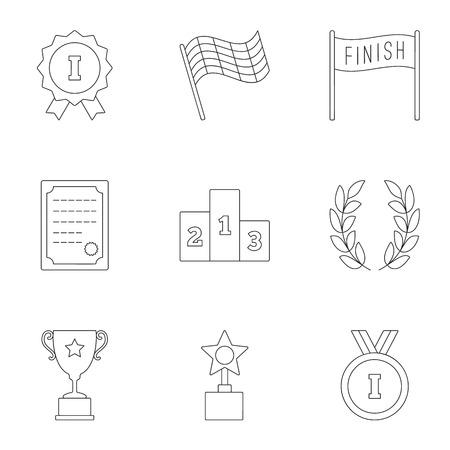 rewarding: Rewarding icons set, outline style